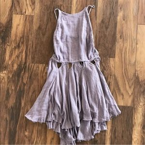 NWT! Free people lilac open back boho tank top